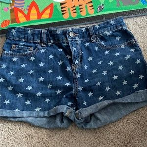 Old Navy Jean shorts with stars